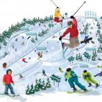 Illustrasjon av planlagt alpinanlegg Siggerud. På trykk i Østlandets Blad 15/6 2012 i forb. med redaksjonell sak.