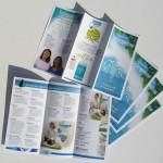 Utforming av folder/brosjyre med illustrasjoner for TorgTerapeutene, naturmedisinsk klinikk