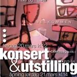 Plakat for utstilling&konsert til Ole Dørje