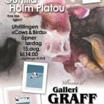 Plakat for kunstutstilling til Gunilla Holm Platou