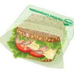 Illustrasjon av «foldover-bag» m/sandwich /for BioBag