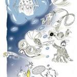 """Illustrasjon av """"Hvordan få barn til å sove""""-sak i VG skrevet av Arve Juritzen"""