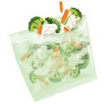 Illustrasjon av «Zip» grønnsak-pose /for BioBag
