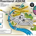 Kart-illustrasjon for kraftsenteret Askim