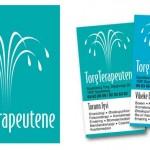Logo+visittkort for TorgTerapeutene - naturmedisinsk klinikk i Spydeberg