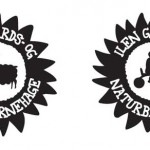 STEMPEL-variant av logo til ILEN Gårds- og Naturbarnehage, til bruk på bl.a saueskinn