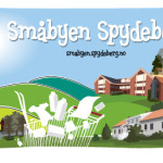 """Illustrasjon for """"Småbyen Spydeberg"""" til bruk på krus"""