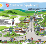 Småbyen-kart for Spydeberg Handelsstand