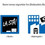 Tema-vignetter for Østlandets Blad