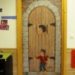 Malt dør i barnehage, akryl