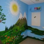 Veggmaleri i barnehage, akryl